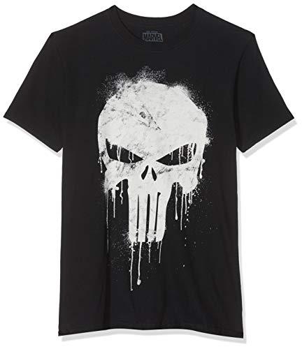 Marvel Avengers Punisher Skull T-Shirt, Nero (Black Blk), (Taglia Produttore: Medium) Uomo