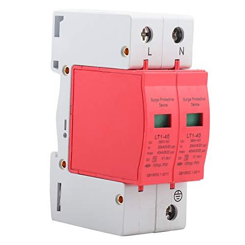 385V Überspannungsschutzgerät, 20KA Niederspannungsableiter Thunder Tele Protector für Telefone und elektronische Geräte(2P40KA)