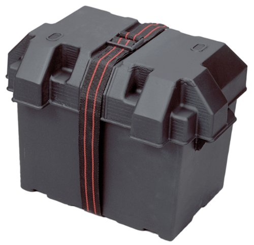 Powerhouse 13035 12-Volt Battery Box, Group 27,Black