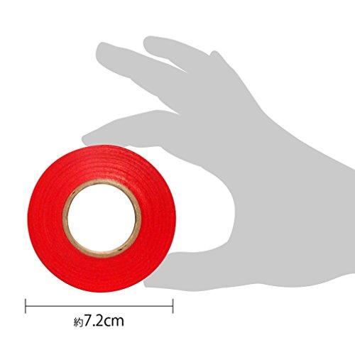 『カラーテープ 単色10P あか』の3枚目の画像