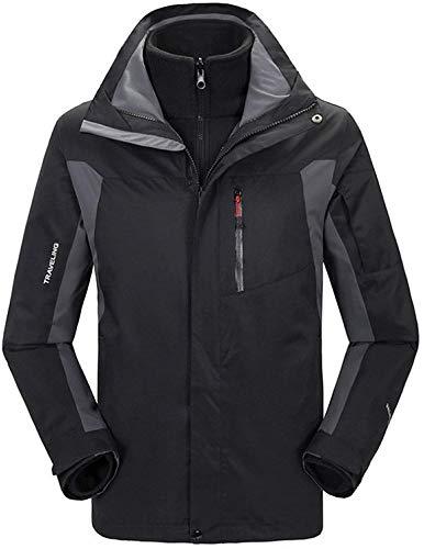 Unbekannt Herren wasserdicht Winddicht Outdoor Fleece Snowboard Ski Jacke Herren Softshell Radjacke Casual Windbreaker Coat Sportswear