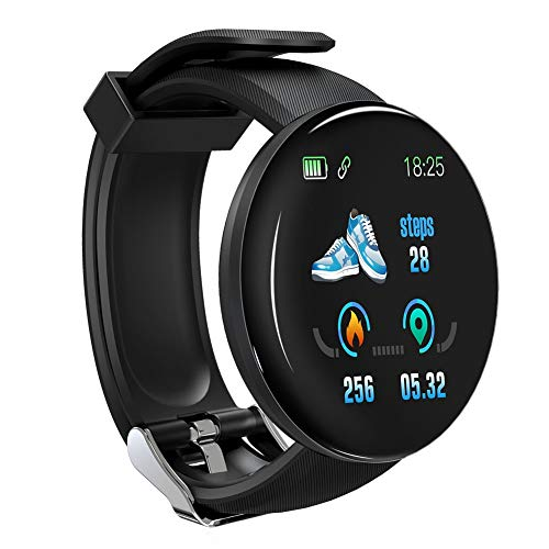 Smartwatch, Reloj Inteligente IP67 con Monitor Rítmo Cardíaco Sueño Podómetro Notificaciones, Reloj Deportivo 1.4 Inch Pantalla Táctil Completa Mujer para iOS y Android (Rosa)