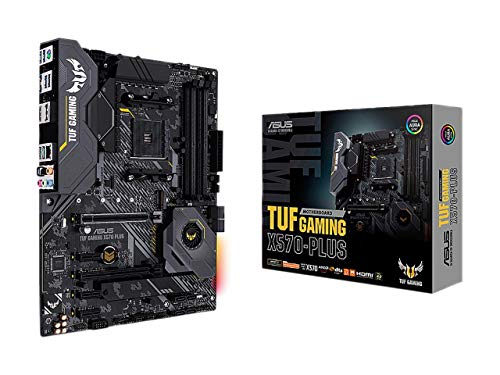 ASUS AM4 TUF Gaming X570-Plus AM4 Zen 3 Ryzen 5000 & 3rd Gen Ryzen ATX Motherboard with PCIe 4.0, Dual M.2, 12+2 with Dr. MOS Power Stage, HDMI