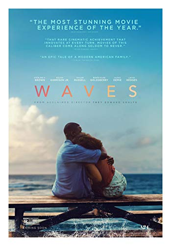 Waves Movie Poster Glossy High Quality Print Photo Wall Art Taylor Russell, Kelvin Harrison Jr Size 27x40#1