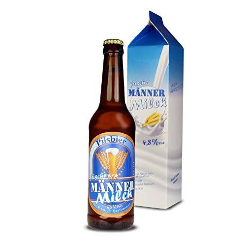 Monsterzeug Männermilch - 0,33 Liter Bierflasche in Milchverpackung, Bier in lustiger Verpackung