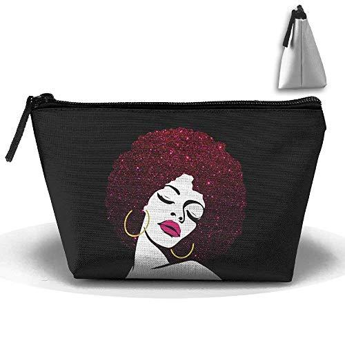Sexy Afro Meditación Queen Pen Papelería Estuche Lápiz Bolsa de maquillaje cosmético Bolsa