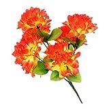 Baoblaze Künstliche Chrysantheme Seidenblumen Blumenstrauß als Grabschmuck Grabdekoration und Grabgesteck - Multi