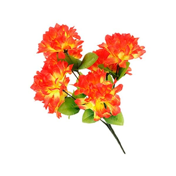 joyMerit Artificial Silk Chrysanthemum Flowers Arrangement for Funeral Memorial Grave