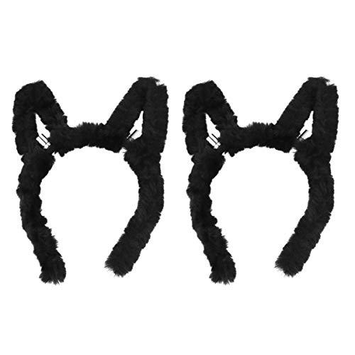 Amosfun 2 stks LED Konijn Hoofdbanden Bunny Oor Haar Hoops Pasen Party Hoofdband Gloeiende Dier Haar Bands Party Hoofdstuk Props