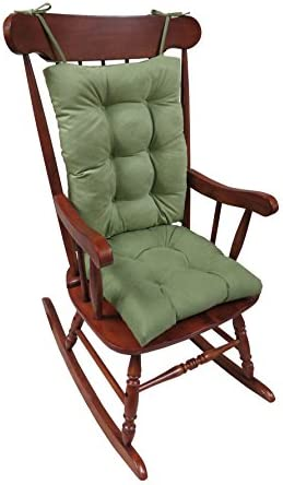 Best Klear Vu The Gripper Non-Slip Rocking Chair Cushion Set Honeycomb, Grass