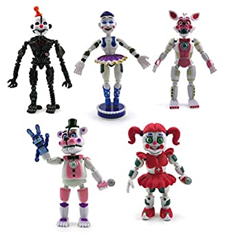 Unique New Inspired by FNAF Sister Toys Set of 5 pcs More Than 5 inches [Funtime Freddy Circus Baby Enard Belora Funtime Foxy]