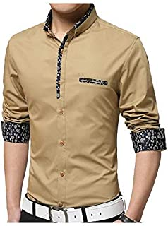 Parth Fashion Hub Men's Cotton Fancy Shirt Casual Full Sleeve