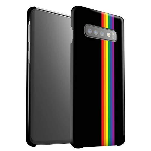 Matt Hülle Für Samsung Galaxy S10 LGBT Gay Pride Kunst Gleichheits-Streifen Design Matte Hart Schutz Handyhülle Case