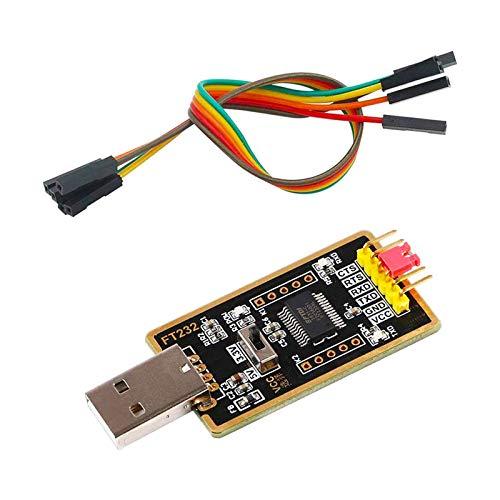 ZHITING Adaptador de USB a TTL, módulo convertidor de USB a Serie FTDI FT232 USB UART FT232RL Compatible con Windows 7,8,10, Wince, Linux, Mac