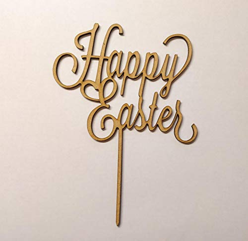 Wooden 3mm mdf Happy Easter cake topper decoration blank