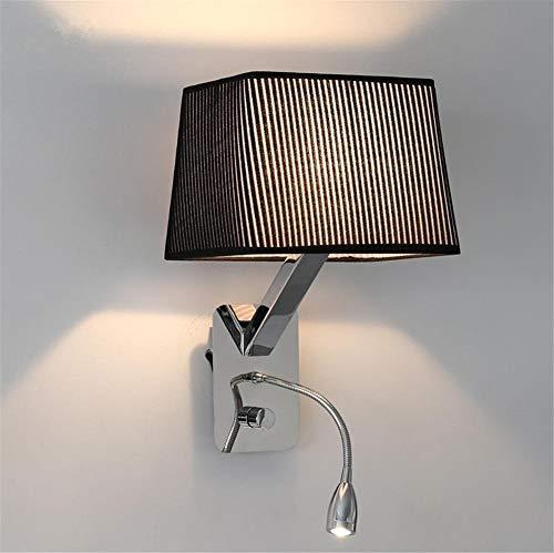Agaidu Moderner minimalistischer Glaslampenschirm Wandleuchte Nordic Metal Wandleuchte Wandleuchte 360 ° drehbare LED Mini-Bettlesestrahler Wohnzimmer Schlafzimmer Flur Nachtbeleuchtung