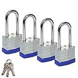 SEPOX - Candado de seguridad laminado impermeable con 2 llaves (40 mm)