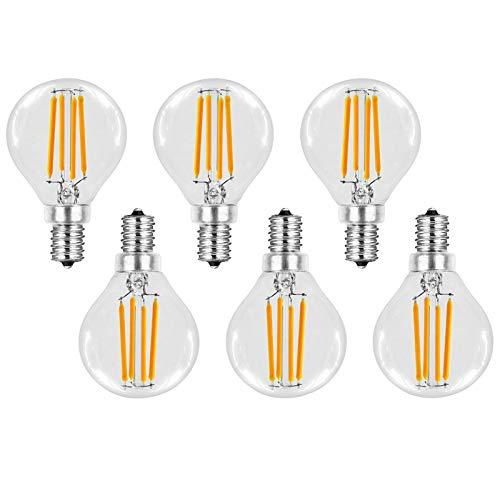 G45 6w LED Candelabra Bulbs 6 Pack E14 Edison LED Bulb (warm White/cold White) Energy Saving Old Fashioned Light Bulb, 360° Beam Angle Ac 220v