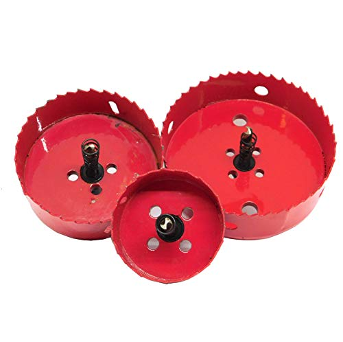morytrade ホルソー 115 90 60 mm 3点セット 塩ビ VP 管 配管工具 ホールソー 木材用 石膏ボード 木工 鉄ホルソー 3本
