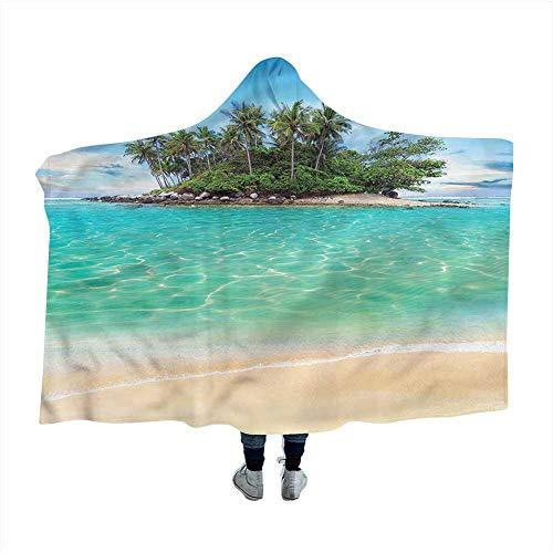 GGACEN Island Wearable Blanket Honeymoon Destination Ocean Cloak Blanket for Sleep Nap 80x60 inches