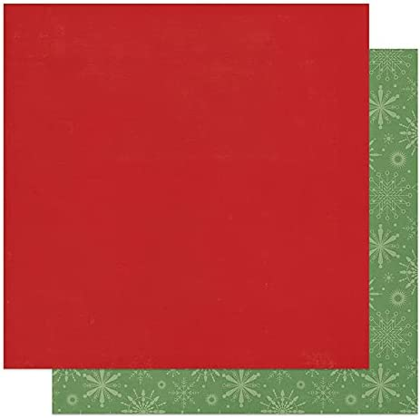 Green Snowflakes Super beauty product restock quality top! Luxury Plus Red Solid - North Scrapbook 12x12 The Pole