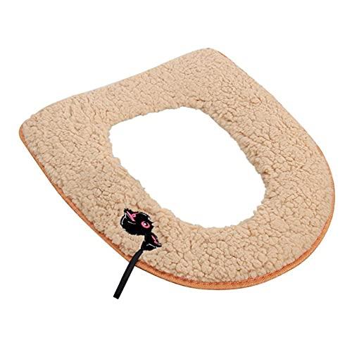 ENJY Cuscino del Sedile del Water Bagno per la casa 3 Pezzi Lavabile Warmth Weight Soft Seat Cuscini da Bagno Forniture per Il Bagno (Color : Pink)