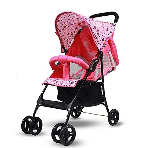 WRJY Kinderwagen, Kinderwagen Kinderwagen Reisewagen Leicht faltbar Geeignet für 0-3 Jahre, Kann sitzen und Sich hinlegen (Farbe: B), Farbe: B (Farbe: C)