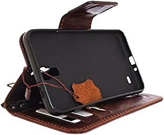 Genuine Real Leather Case for Samsung Galaxy Mega 2 Book Wallet magnet cover bown Handmade LTE Luxury Daviscase