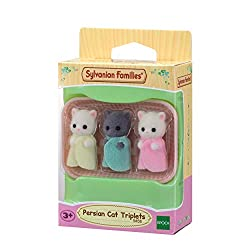 Persian cat triplets collectable figure Four piece set: Persian Cat cradled babies and cradle Dressed in removable fabric clothing Sylvanian Families' miniature dollhouses, playsets and figures are timeless and classic high-quality toys. Suitable for...