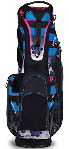 Callaway Golf 2018 Hyper Lite 5 Stand Bag, Black/ Blue/ Pink