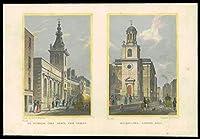 1831ロンドン - セントニコラスコールアビーフィッシュストリート - すべての秘宝ロンドンの壁(27)