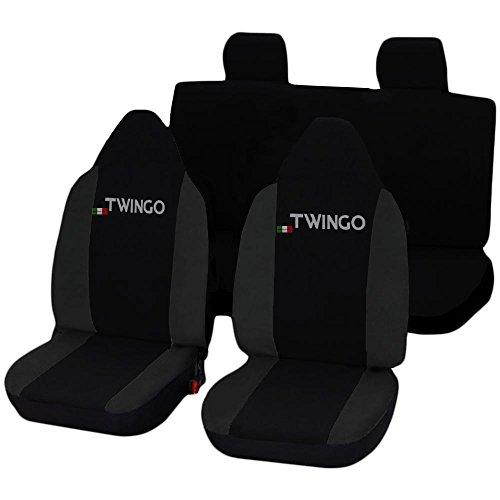 Lupex Shop Twingo_N.GS Coprisedili, Nero/Grigio Scuro
