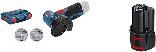 Bosch Professional 12V System Akku Winkelschleifer GWS 12V-76 (3 Trennscheiben, Scheibendurchmesser: 76 mm, ohne Akku...