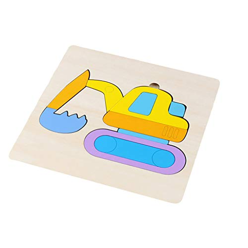 Eaylis-Zuhause Wooden Cartoon Stereo Memory Cognition Puzzle Frühes Lernspielzeug für Kinder