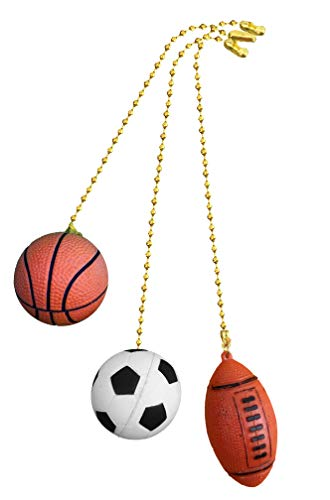 Basketball, Soccer Ball, Football fan Pull with beaded chain...