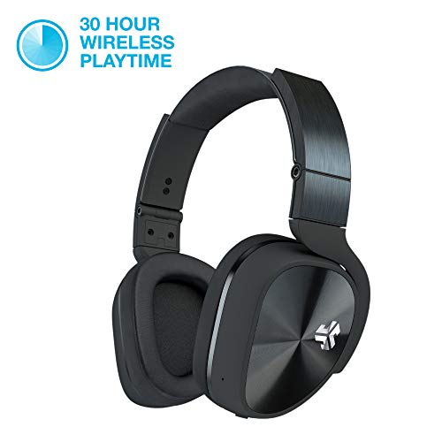JLAB Audio Flex Studio Bluetooth Noise Canceling DJ Style Headphones with Metal Build, Carrying case and Folding for Easy Travel.