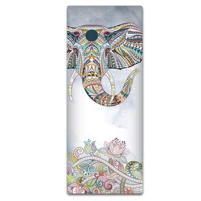 183x68cm (72x26in) Patrón de impresión retro Esterilla de yoga impresa de alta calidad Caucho natural 11mm / 4mm