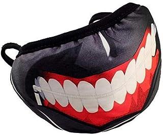 قناع قطني بلون اسود على شكل فم، مناسب للحفلات التنكرية - 2962tt