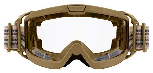 Rothco OTG Ballistic Goggles, Coyote Brown/Clear