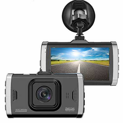 "Dash Camera Full 1080p HD Recording DVR Cam Video Recorder In Car Camera Dashcam for Cars 170 Wide Angle WDR with 3.0"" LCD Display Night Vision Motion Detection and G-Sensor"