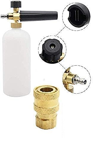 STARQ Car Washer Snow Foam Lance Bottle Compatible with STARQ W3 W4 W5 Model Adjustable 1L Set with Brass Adapter