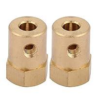モーター拡張カップリング-4PCS真鍮拡張シャフトHEXカップリングカプラーモーターコネクタ(5mm)