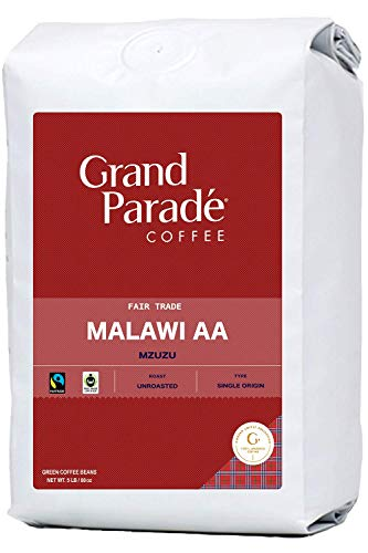 Grand Parade Coffee, 5 LB Unroasted Coffee Beans - Malawi AA Mzuzu Single Origin - Geisha, Bourbon Variety - High Altitude Specialty Arabica - Fair Trade - Fresh Raw Green Coffee - 5 Pound Bag