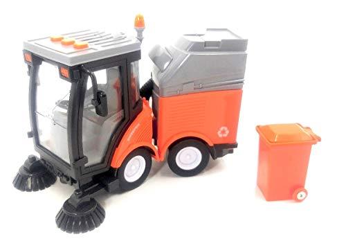 TRUCK Il Camion Spazzatrice Di City Services Viene Fornito Con Pattumiera. Vagone Di Riciclaggio. Età 3+
