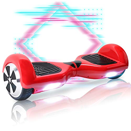 """Mangoo Hoverboard Patinete Eléctrico 6.5""""con Bluetooth LED (RD)"""