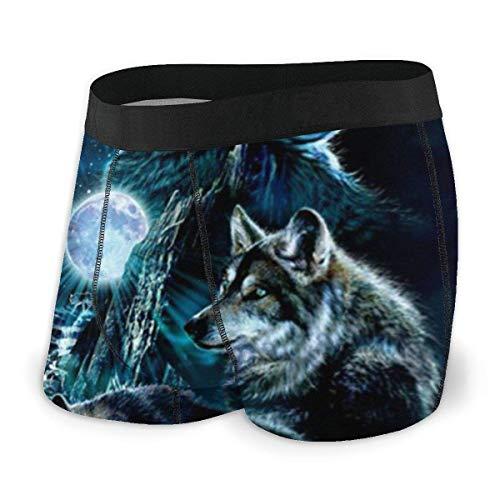 zengdou Herren Boxershorts Moon Wolf Gr. S, Siehe Abbildung