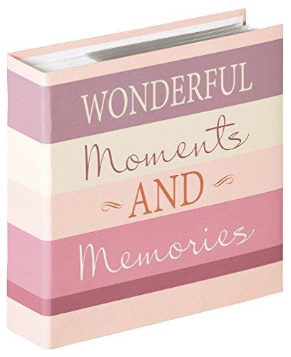 Walther Design ME-338-W Album ad Inserimento Moments Wonderful, Carta, Rosa, 13 x 18 cm