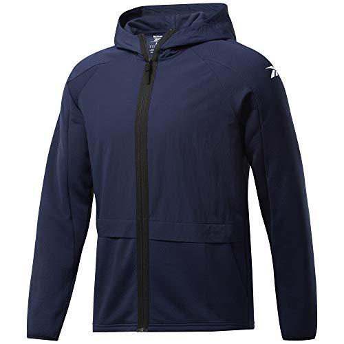 Reebok Męska bluza TS Perf Layering FZ bluza, niebieska (Vecnav), 2XL