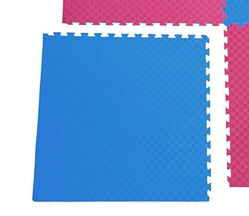 Sportmatte Steckmatte mit Zwischenschicht Judo Karate Yoga Kampfsport Rot-Blau 1mx1mx0,02m (0560010) …