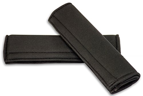Carfactory - Almohadillas protectoras para cinturón de seguridad, modelo ASTER, color Negro, 2 unidades